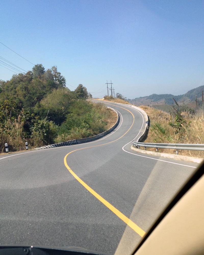 Дорога в горах Нана
