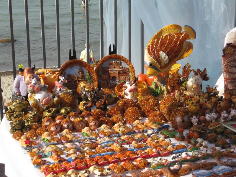 Сувениры из янтаря в Светлогорске