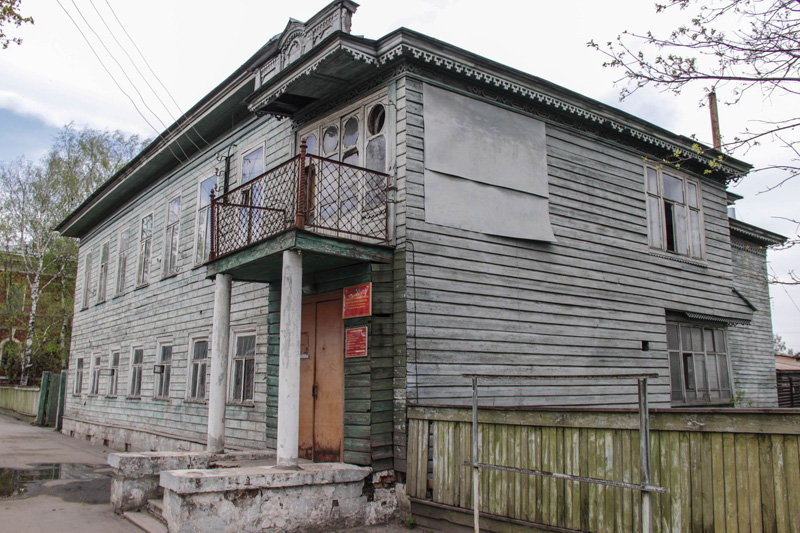 Деревянные домики в Устюжне