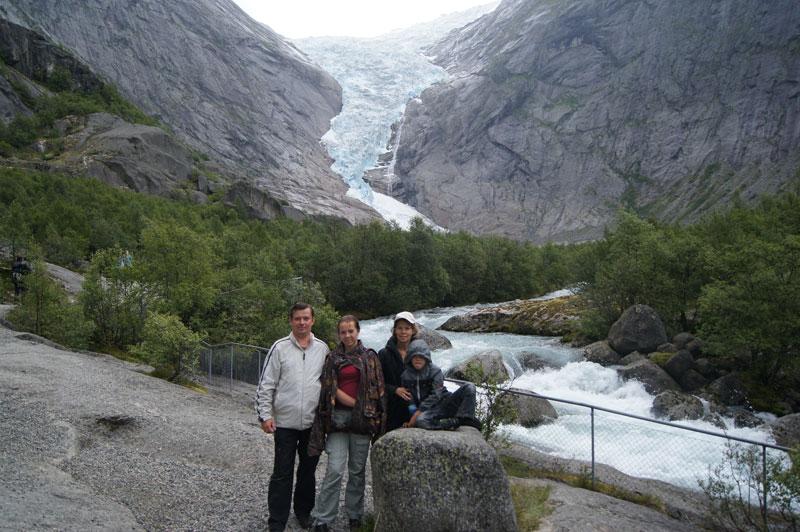 Рукав ледника Бриксдалбреен, Норвегия, 2011 год