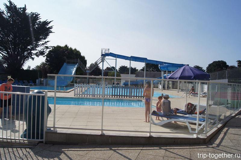 Мини аквапарк во французском городке Карнак, Бретань 2013