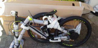 разборка велосипеда для самолета