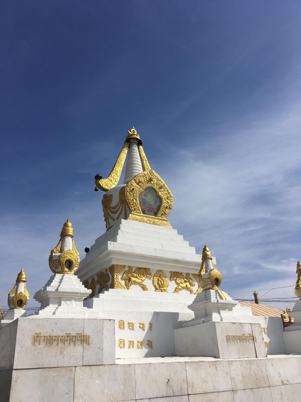 Ступа на территории Монгольского Буддийского монастыря Гандан