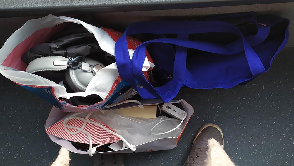 Наушники в той самой сумке до потери